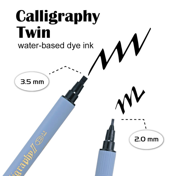 ZIG CALLIGRAPHY II Dye ink 6 color set
