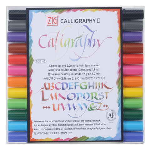 ZIG CALLIGRAPHY II Dye ink 12 color set