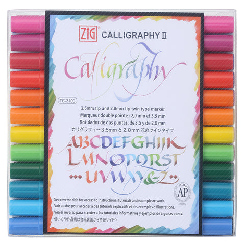 ZIG CALLIGRAPHY II Dye ink 24 color set