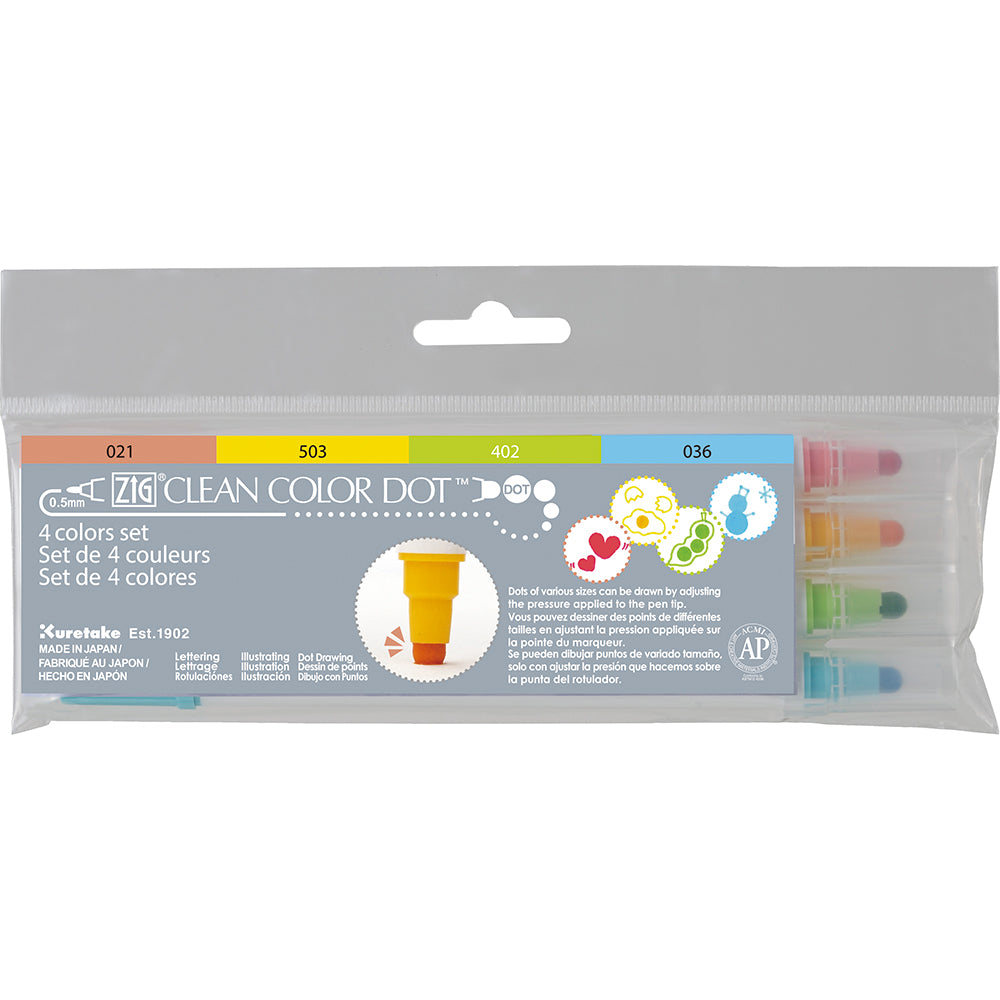 ZIG CLEAN COLOR DOT 4 COLOR SET