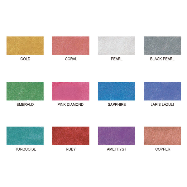 Zig Watercolor Palette - 12 Colors-Pearlescent