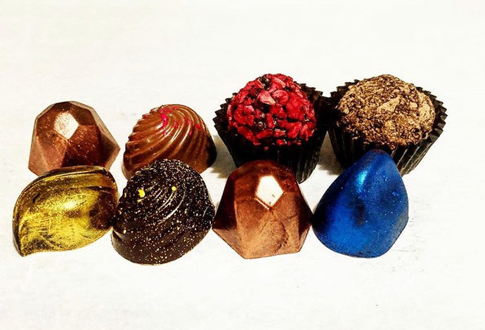 Cao Chocolates' Box of truffles and bonbons