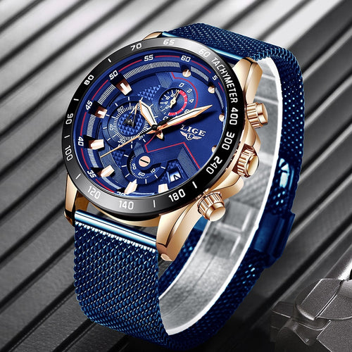 Mens Luxury Mesh Watch