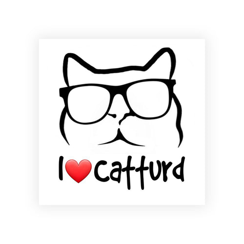 I Love Catturd Bumper Sticker - 4
