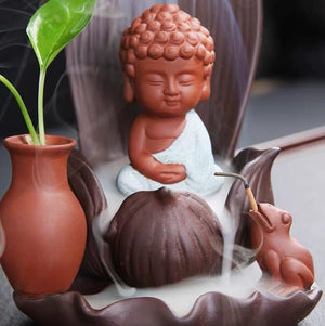 Zen Meditation Backflow Incense Holder Waterfall