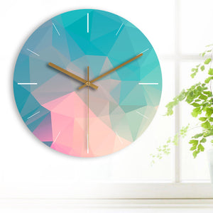 Circle Colorful Wooden Wall Clock