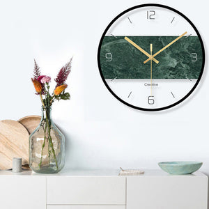 Modern Round Glass Wall Clock