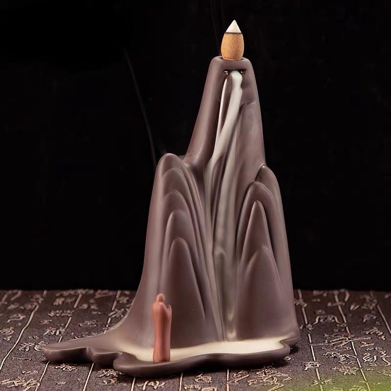 Zen Mountain Backflow Incense Holder Waterfall