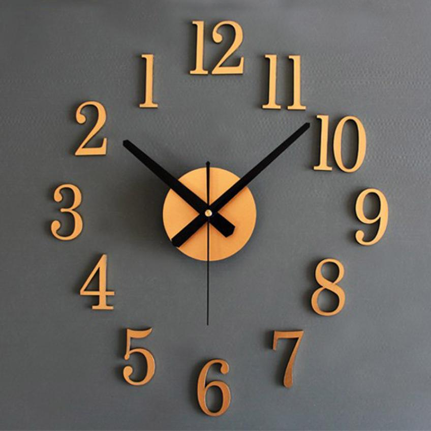 Fashion Stereo Metallic Wall Clock