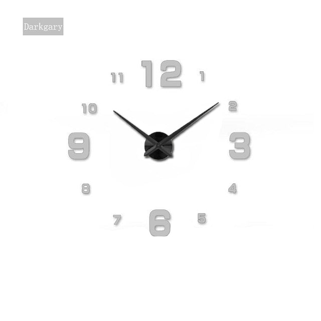 Modern Big Mirror Wall Clock