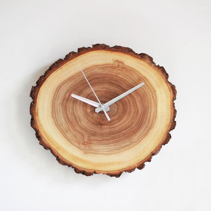 Rustic Wood Annual Ring Wall Clock