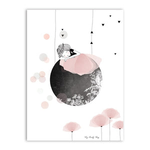 Cute Wall Art Abstract Print