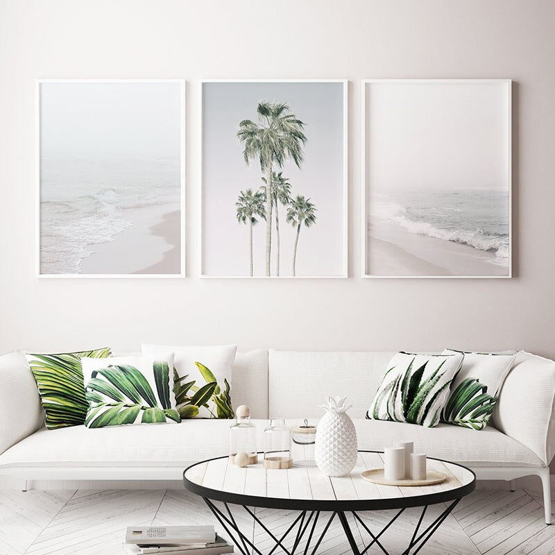 3PCS Set Landscape Beach Canvas Painting