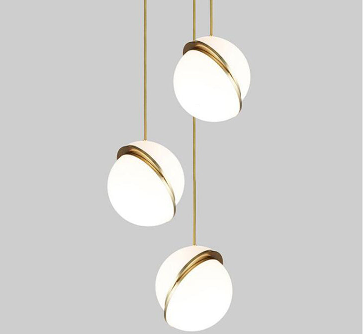 Modern White Ball LED Pendant lights