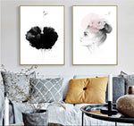 2PCS Set Nordic Style Wall Art Canvas Paintings