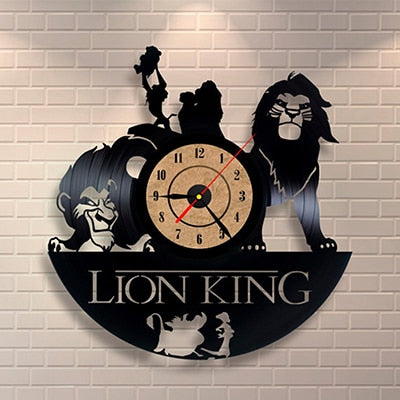 Antique Lion King Wall Clock
