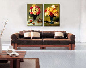 2PCS Set Flower Canvas Wall Art