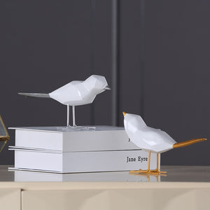 Set of 2 Modern Birds Ornament
