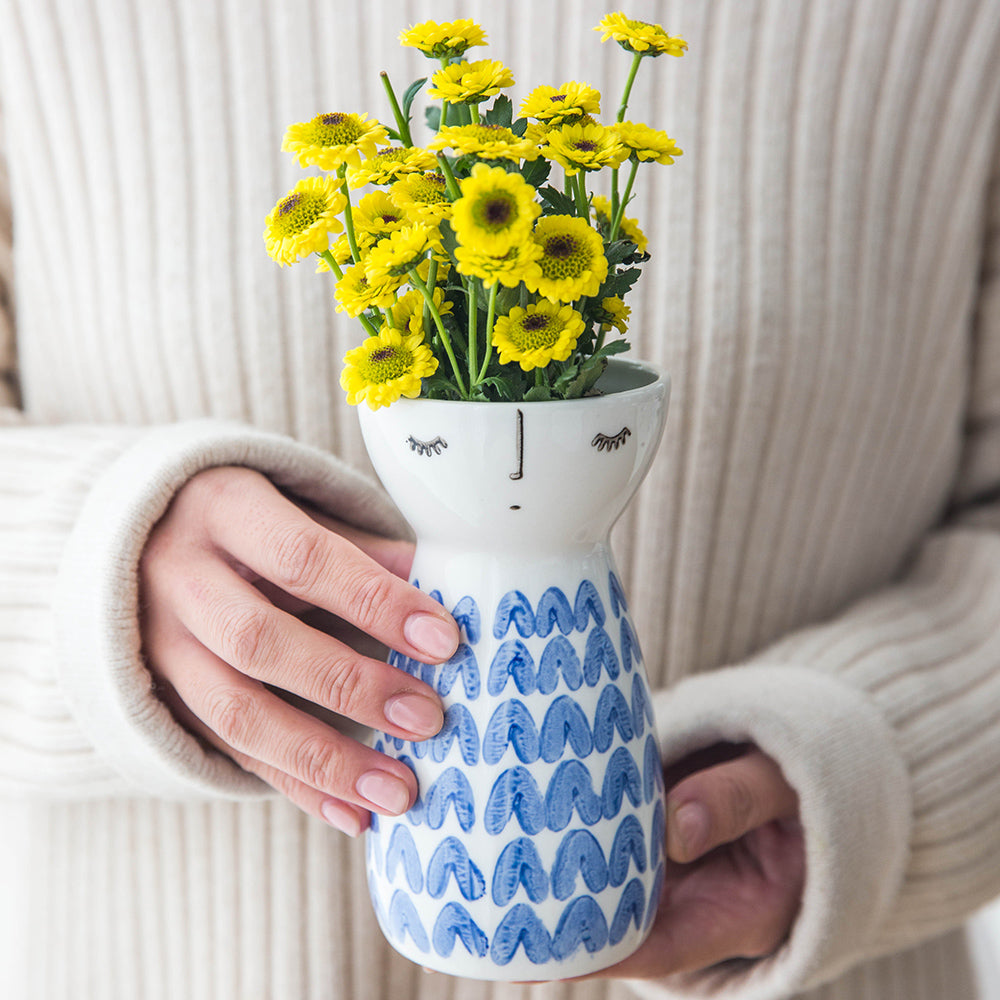 Cute Girl Vase Ceramic Flower Pot