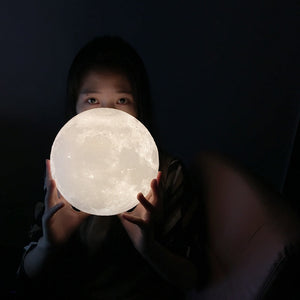3D Print Luna Moon Lamp With Stand