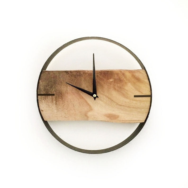 Circle Natural Wooden Wall Clock