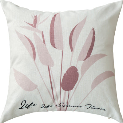 45*45cm Pink Tropical Pillow Case Linen Cushion Cover