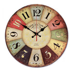 Vintage Windmill Number Wall Clock