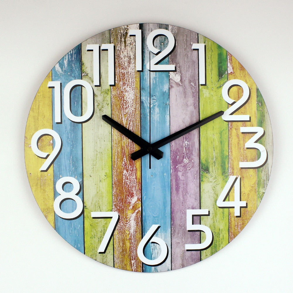 Modern Large colorful  Wall Clock