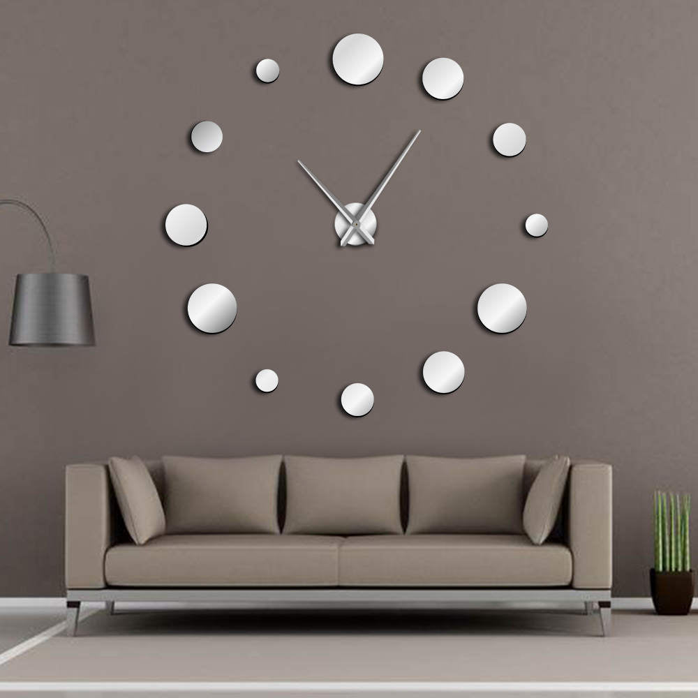Simple Modern Round Mirror Wall Clock