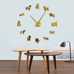 Modern Geometric Animal Wall Clock