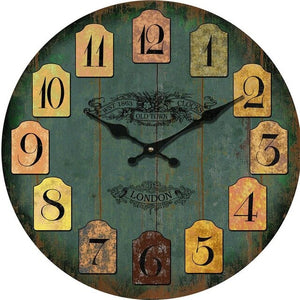 Street Number Wooden Wall Clock