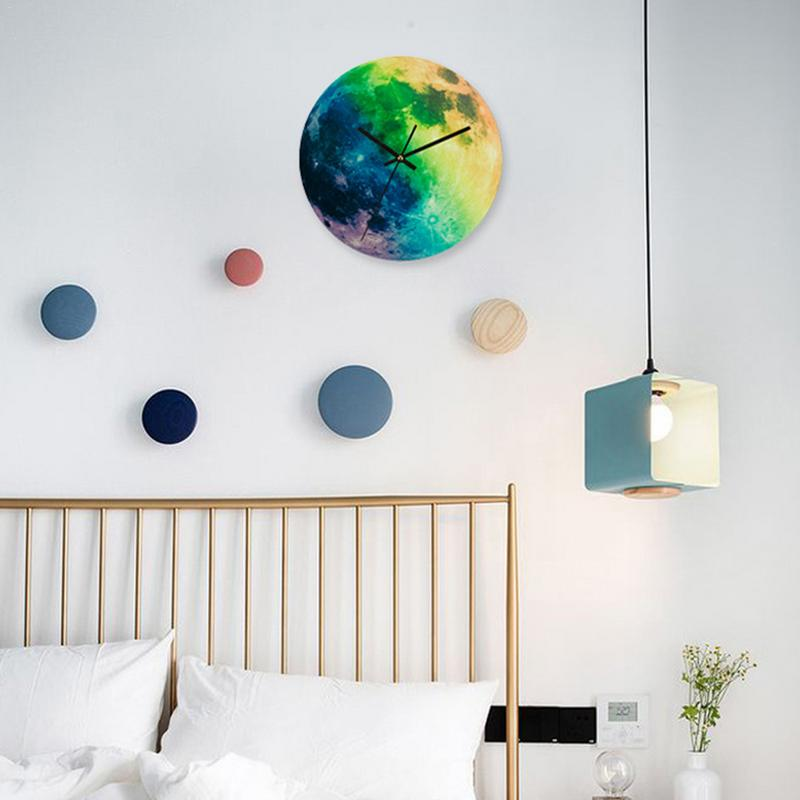 Glowing Moon Wall Clock 3D
