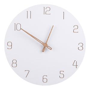 Minimalist Nordic Wall Clock In Pure White