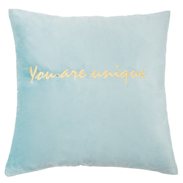 Embroidery Fannel Throw Pillow Cushion Cover