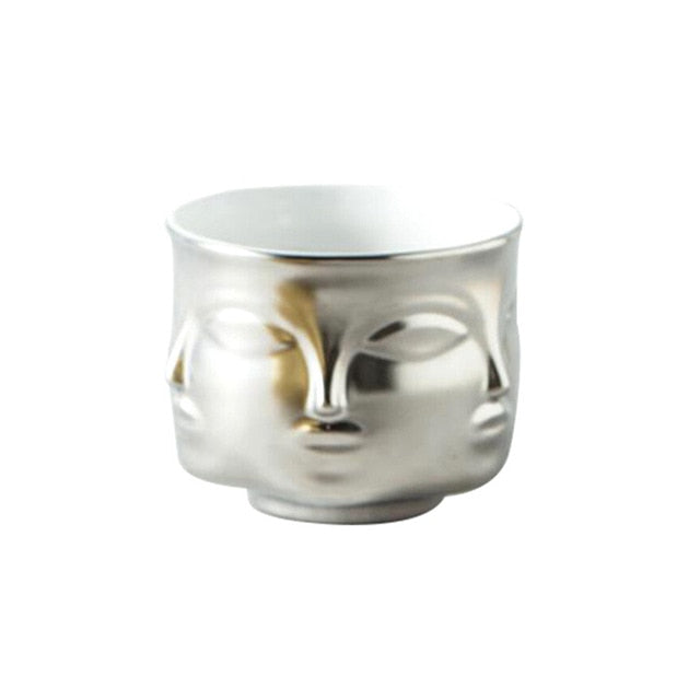 Nordic Ceramic Face Tabletop Planters Vase