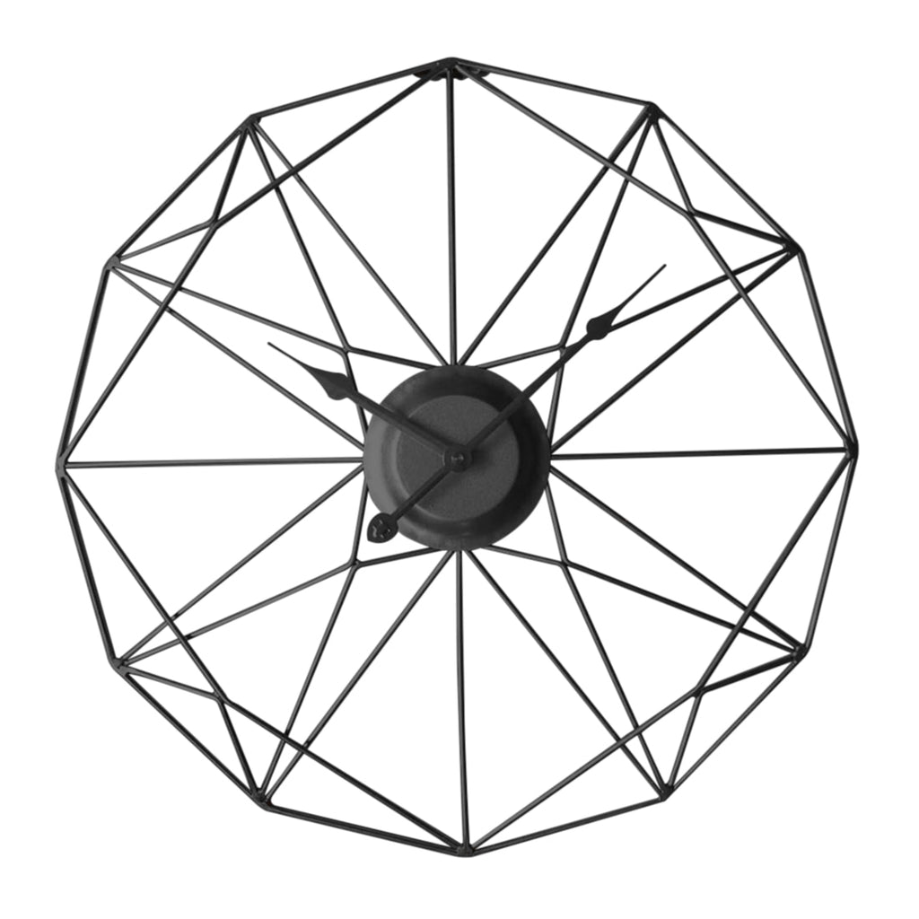 Nordic Hanging Wall Clock Geometric