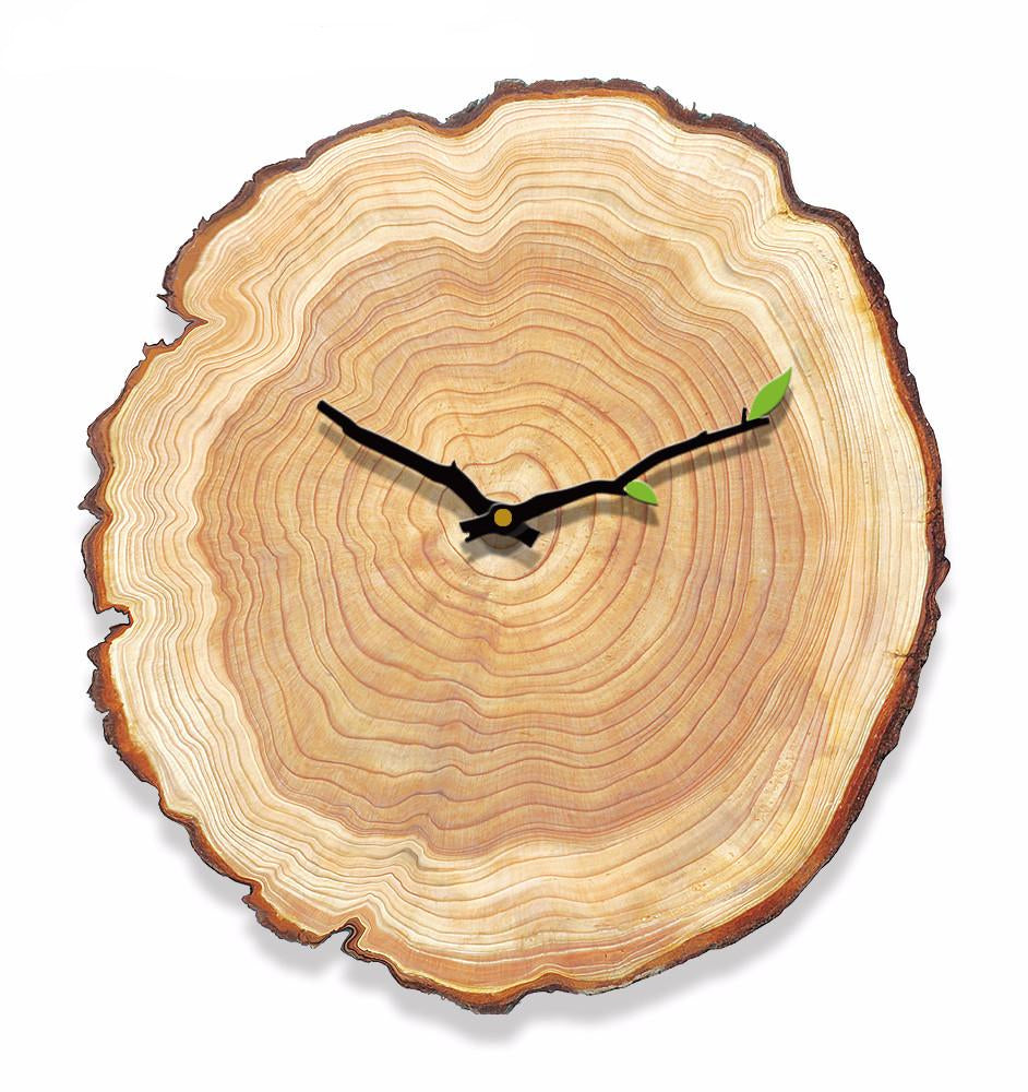 Wood Rustic Annual Ring Wall Clock