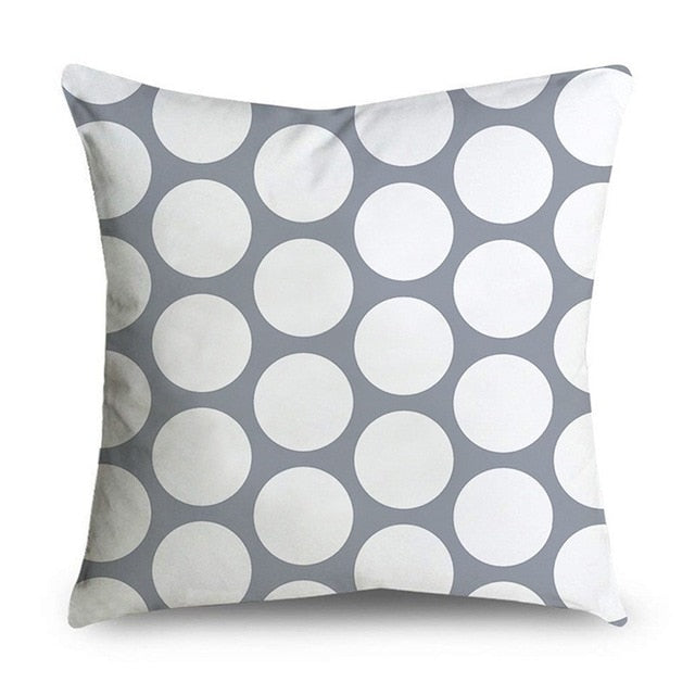 45*45cm Gray Striped Geometric Cushion Cover