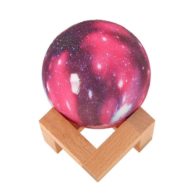 3D Star Moon Lamp Colorful Galaxy