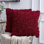 Rose Flower Pillow Cover