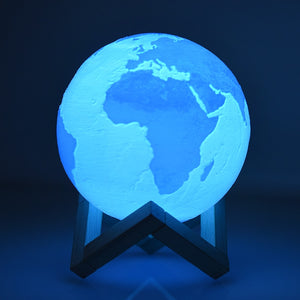 3D Print Earth Lamp Rechargeable Lighting