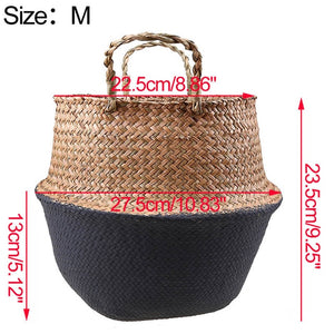 Rattan Flower Pot Basket Handmade Seagrass Wicker Planter