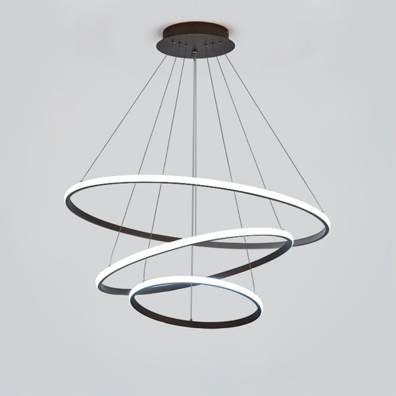 Modern LED Circle Chandeliers Lighting