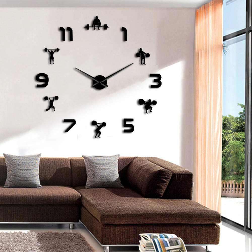 Weightlifting Fitness Giant Wall Clock