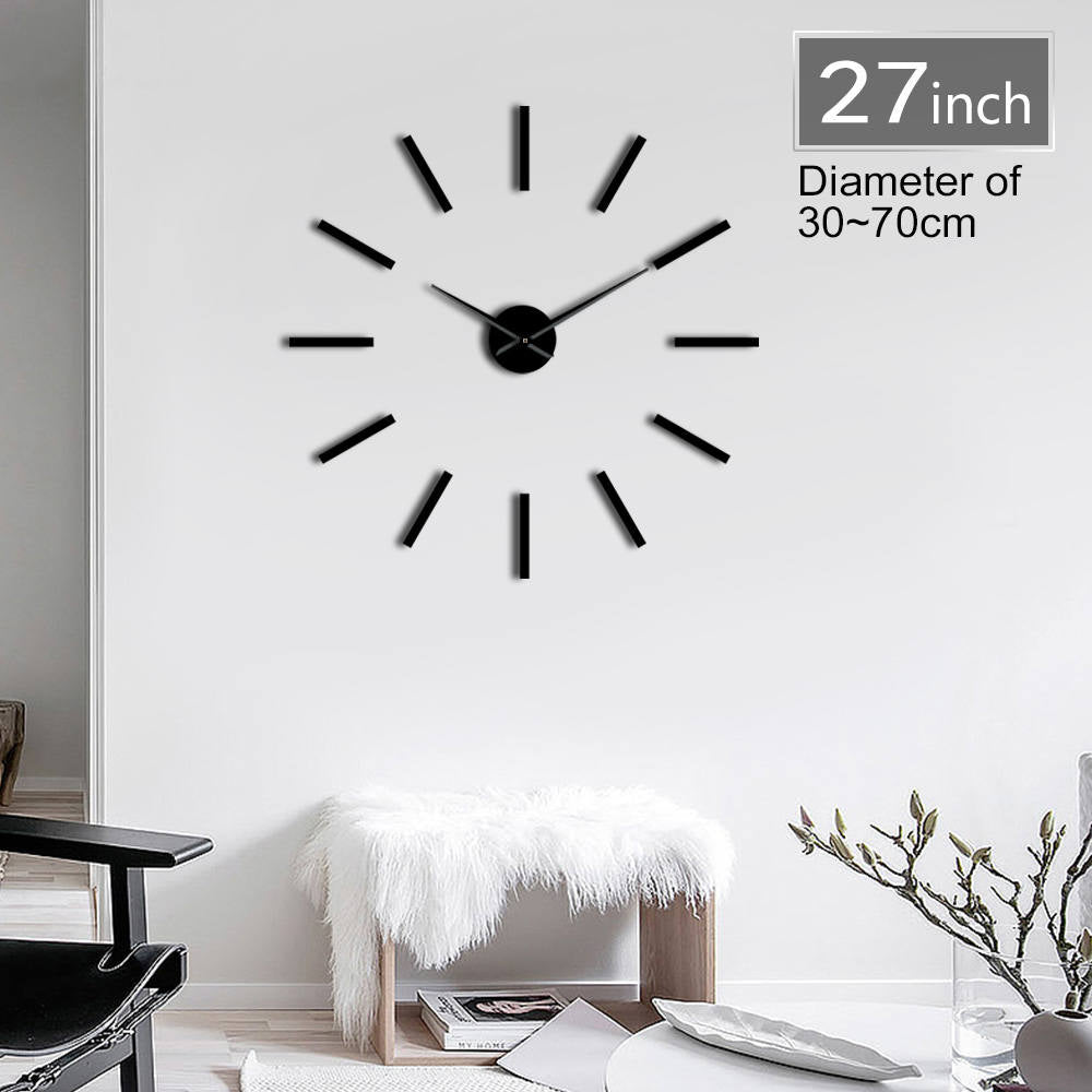 Minimalist Modern Wall Clock With Mirror Surface
