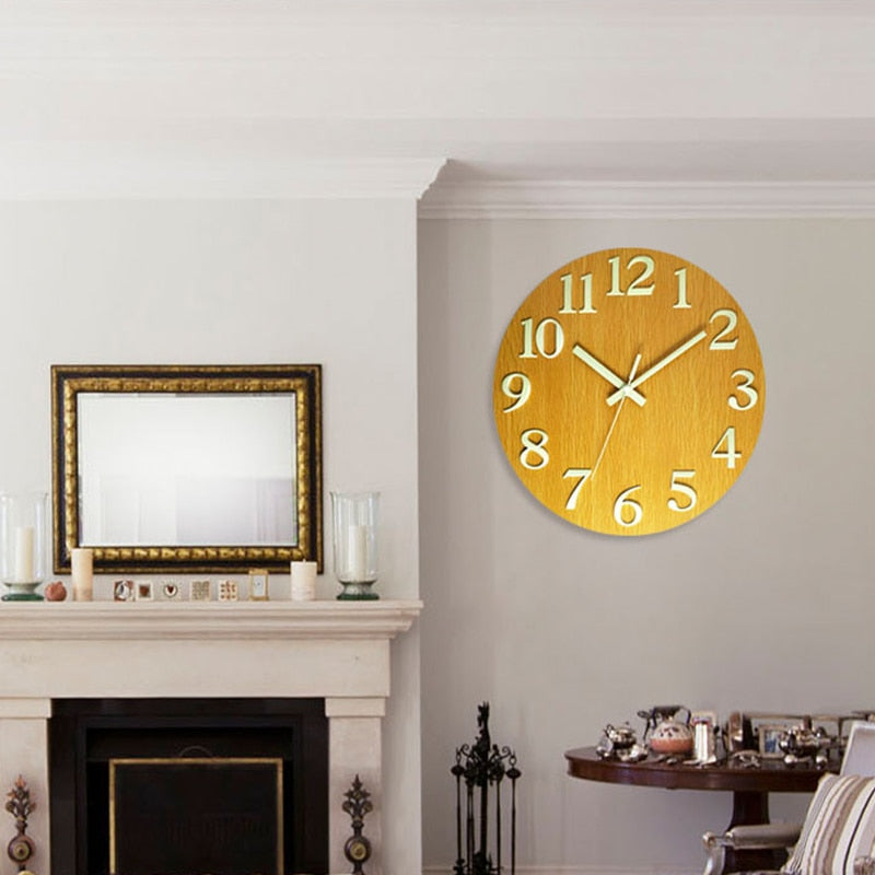 Modern Round Luminous Hanging Clock