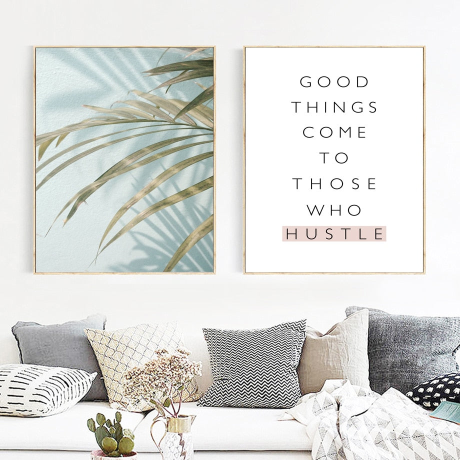 Flower Quotes Wall Art Canvas Print