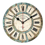 Vintage Wood Roman Wall Clock