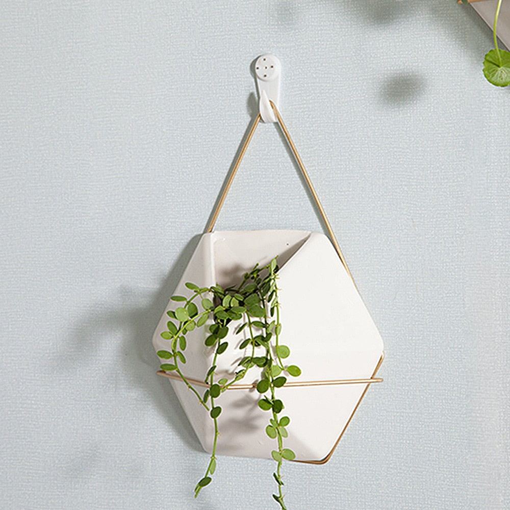Minimal Ceramic Wall Hanging Planter