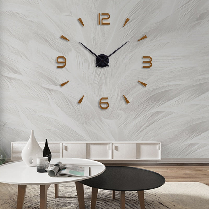 Modern Design Mirror Sticker Wall Clock